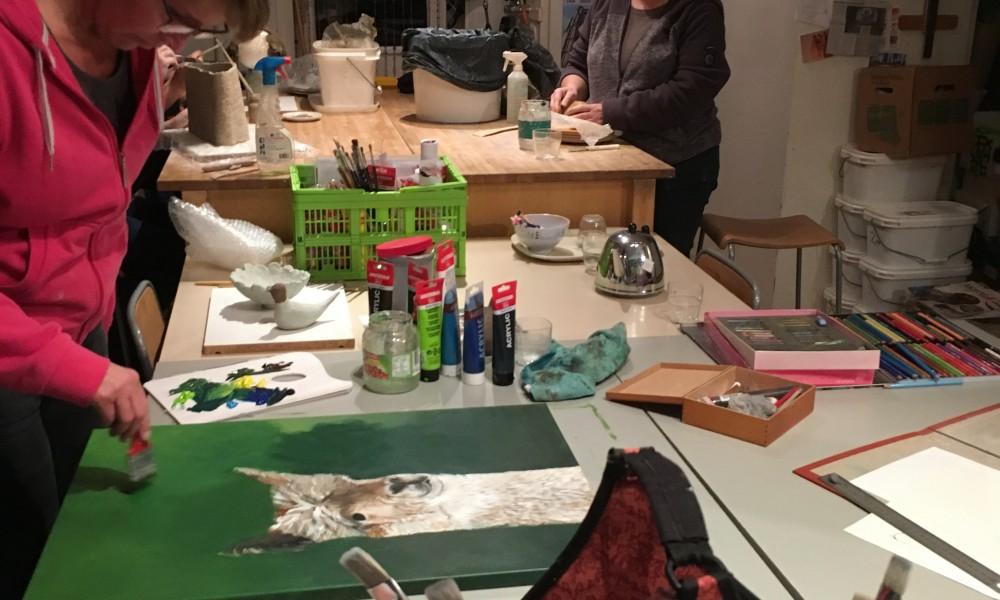 Teken-, schilder- en keramiekcursus start 9 januari 2018