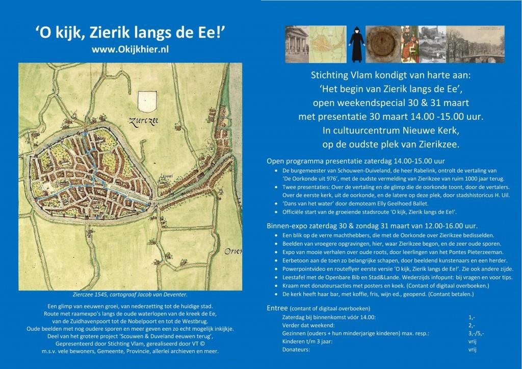 Aankondiging fc St Vlams presentatie 30 maart Nieuwe Kerk Het begin van Zierik aan de E